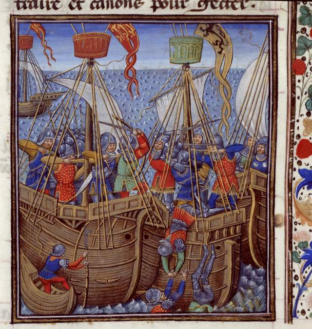 From Jean de Wavrin's 'Chronicles of England', Bruges, c.1461-83. c British Library Board, Royal MS 14 E. IV, f.276r