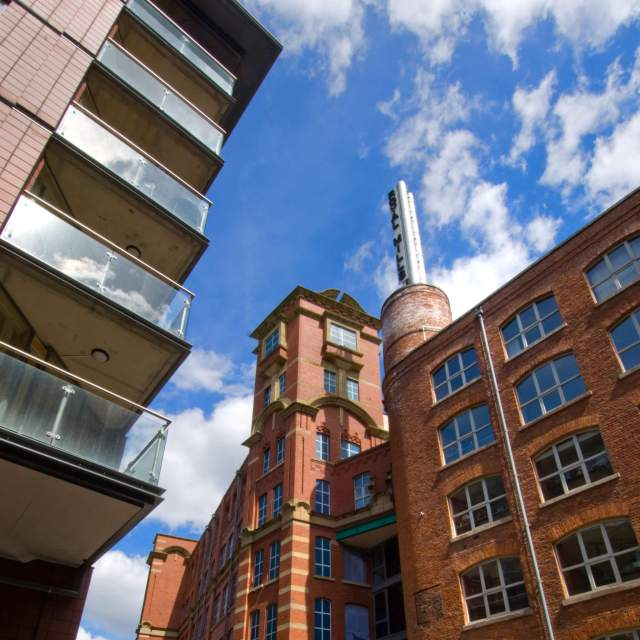 Ancoats Survey, Manchester. Partial view of Paragon Mill and Royal Mill from the west.