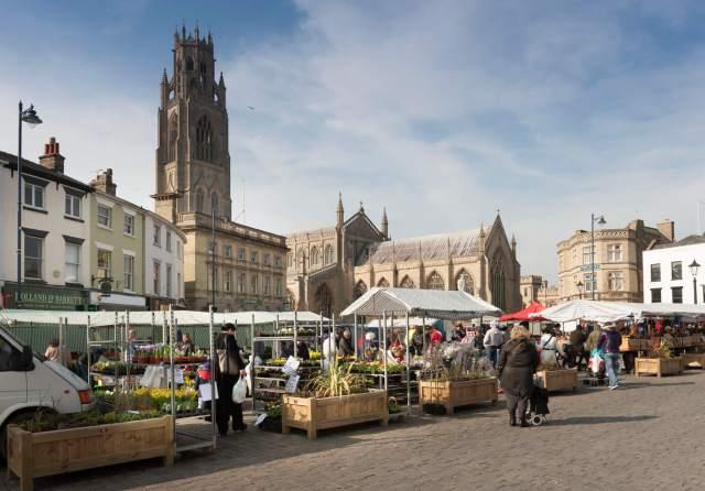 Views of market square, Boston Lincolnshire.