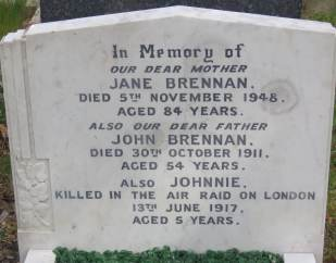 John Brennan's grave after restoration © Stan Kaye.