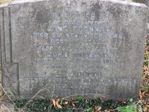 John Brennan's grave before recent restoration © Stan Kaye.