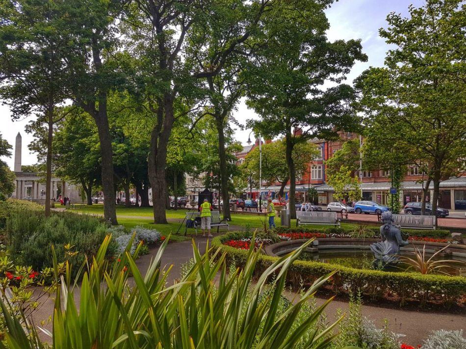 Public gardens in Lord Street