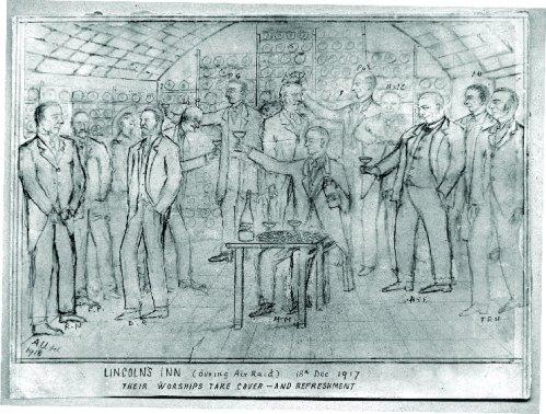 lincolns inn air raid cartoon 18 dec 1917