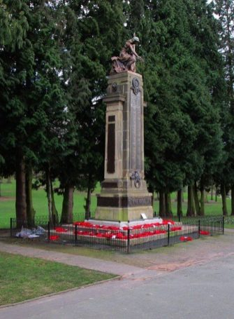 Stourbridge War Memorial, West Midlands. Designed by Ernest W. Pickford, with sculpture by John Cassidy. Unveiled 25 February 1923. Upgraded to Grade II* © P.L. Chadwick