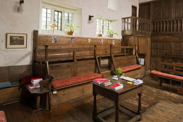 Briggflatts Quaker Meeting House INTERIOR , Sedburgh c Historic England DP143728