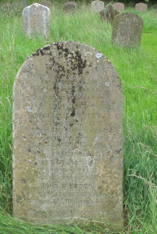Betts brothers' grave, St Margaret's church, Paston, Norfolk.