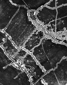 Reconnaissance image of German trenches near Thiepval, France © IWM HU91107.