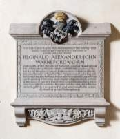 Warneford memorial plaque, St Michaels' church, Highworth, Wiltshire © Historic England/DP218226.