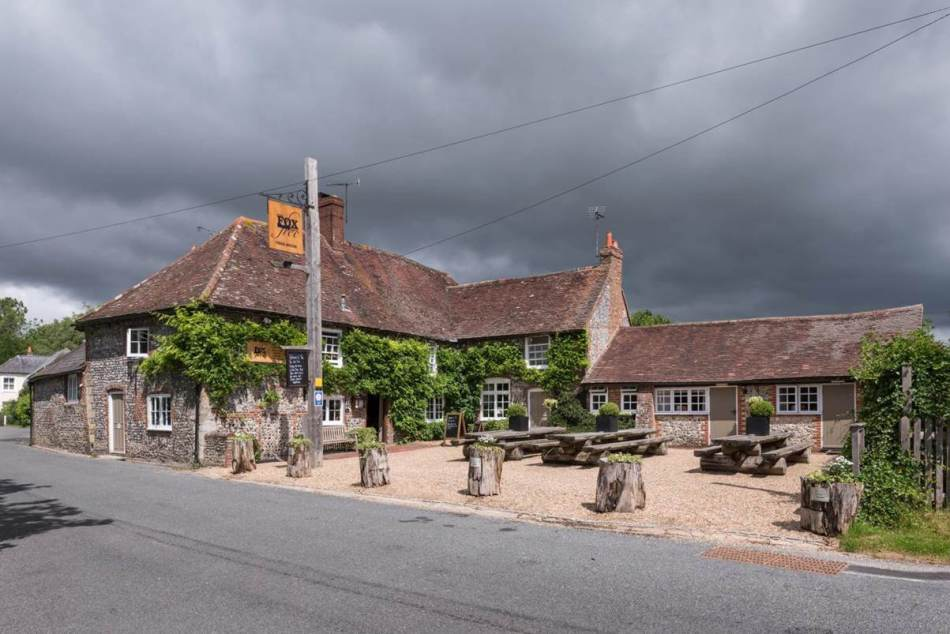 The Fox Goes Free pub, Charlton, West Sussex.