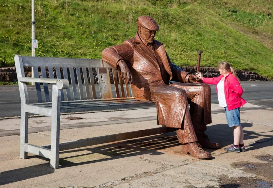 'Stragglers' sculpture, Scarborough, Yorkshire.