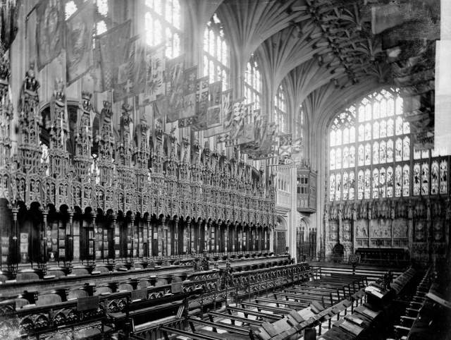 Interior view of St George's Chapel in Windsor Castle c Historic England