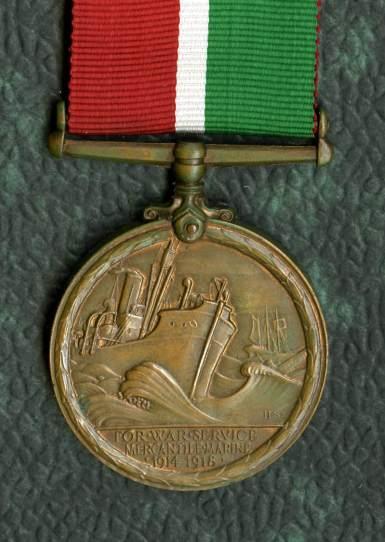 Mercantile Marine service medal c wayne cocroft