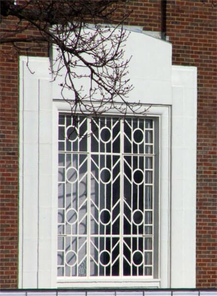 Art Deco style window on Broadway Cinema, Letchworth