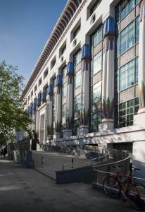 The front of Greater London House (Carreras Works)