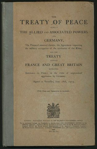 English version of the Treaty of Versaille - front cover image