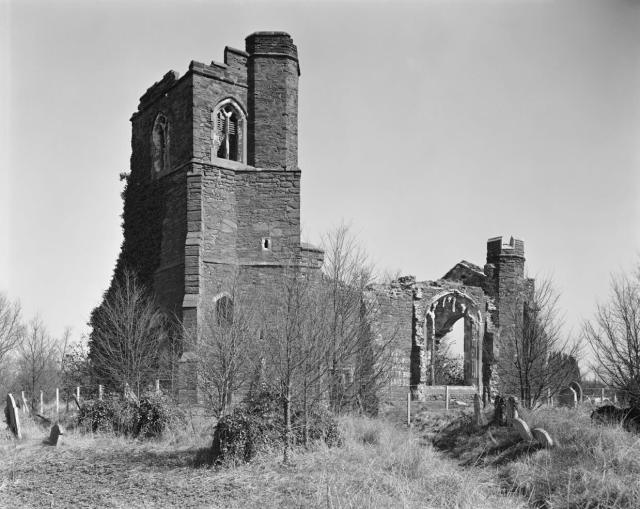 The Church of St Mary the Virgin site before restoration © Historic England