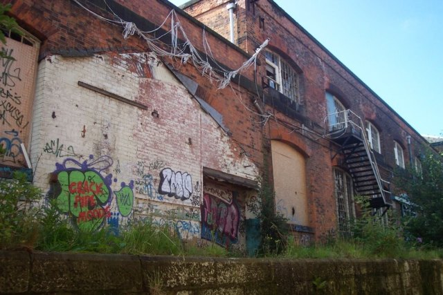 The Roundhouse, Derby in a state of dereliction before the project began. © Ian Harris, Maber Architects