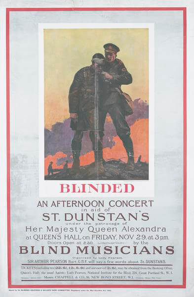 A poster for a concert in aid of St Duncan's Hospital for Blind Soldiers and Sailors