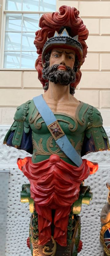 Restored figurehead from HMS Ajax