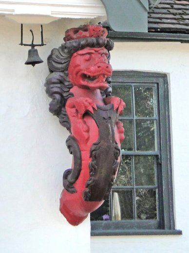 A rare survival of a Royal Naval lion figurehead, dating from around 1740