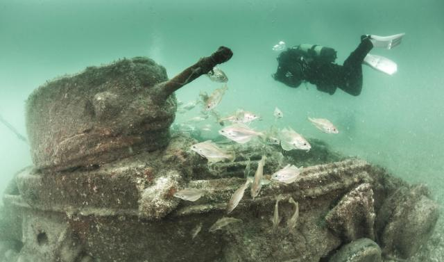 BLOG submerged valentine tank poole bay paul pettitt