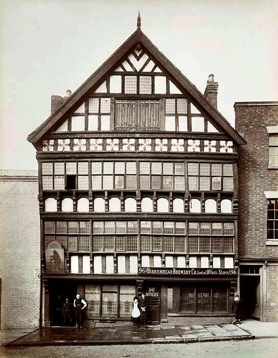 The Billet and Bear pub, black and white photo taken in 1887