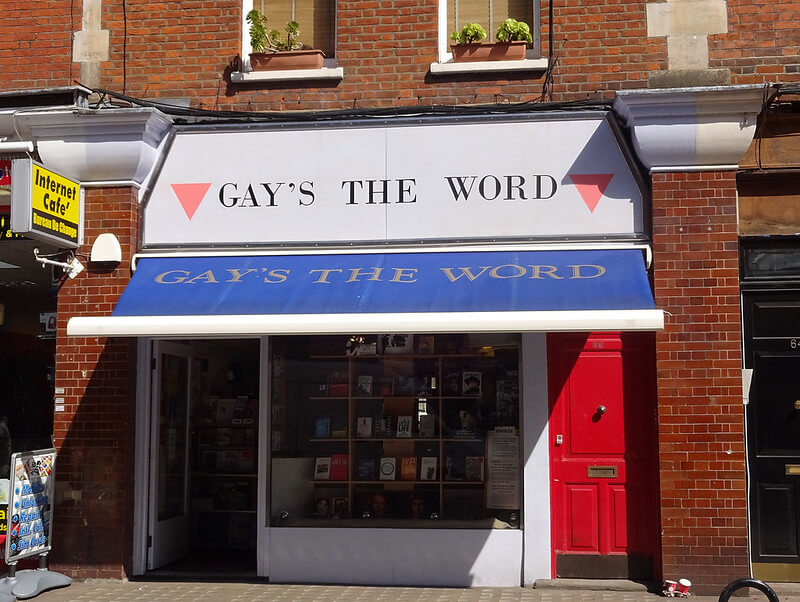 Exterior of Gay's the Word bookshop