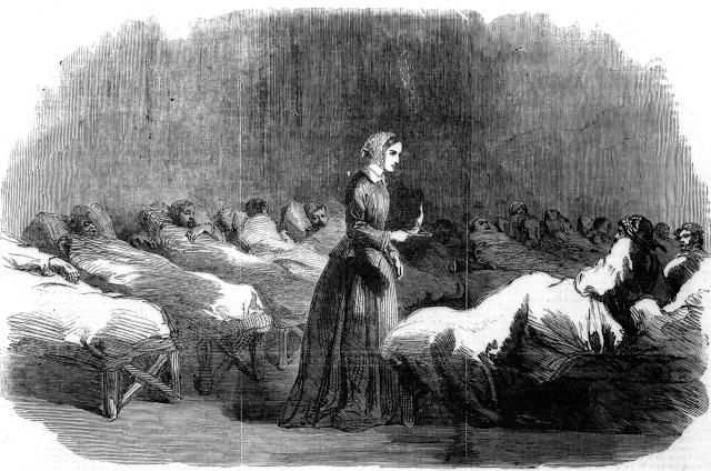 This image of Florence Nightingale carried in the Illustrated London News, 24 February 1855 was the single most influential image of her