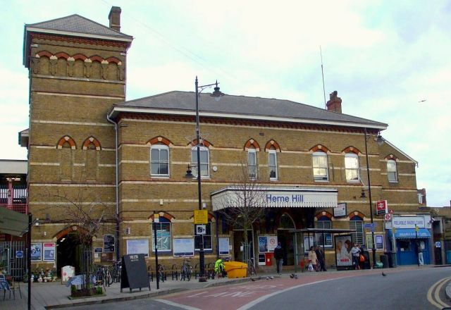 Taylor's Herne Hill station, London, photographed in 2012. Photo by Andy Brown.
