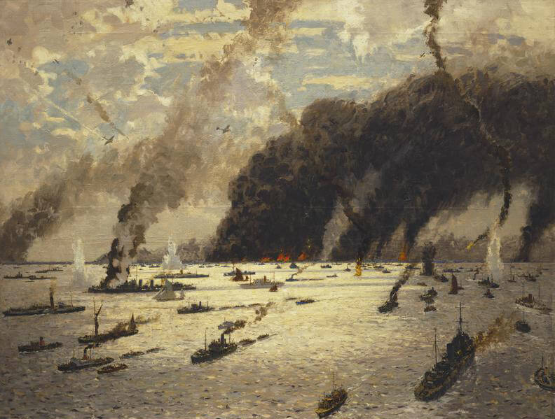 'The Little Ships at Dunkirk', Oil painting