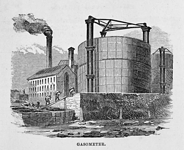 Drawing of gasholder