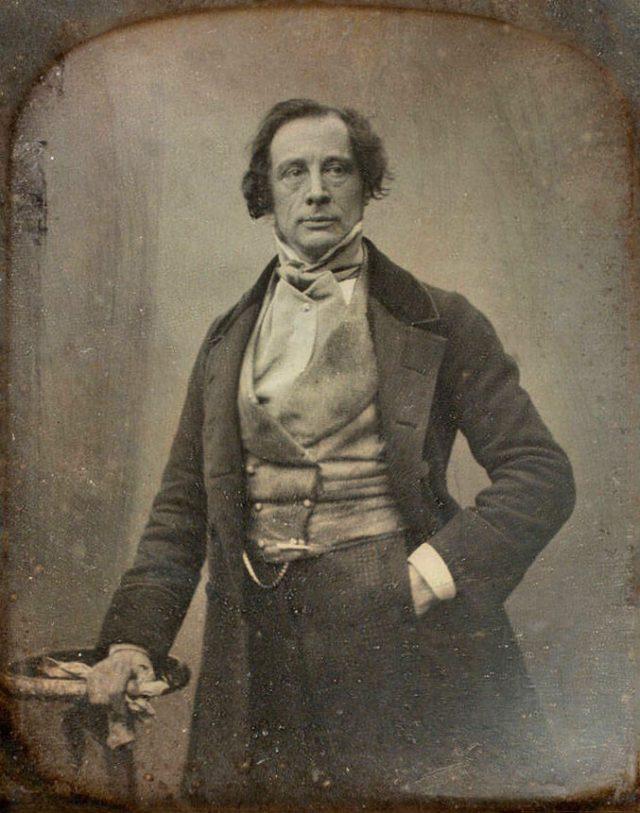 Daguerreotype portrait of Dickens, 1852