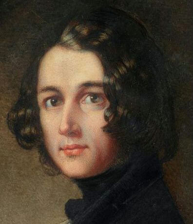 Portrait of Dickens (detail) in 1843 when he was 21