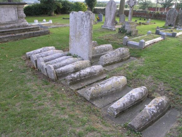 Thirteen infants' graves, St James Church, Cooling, Kent