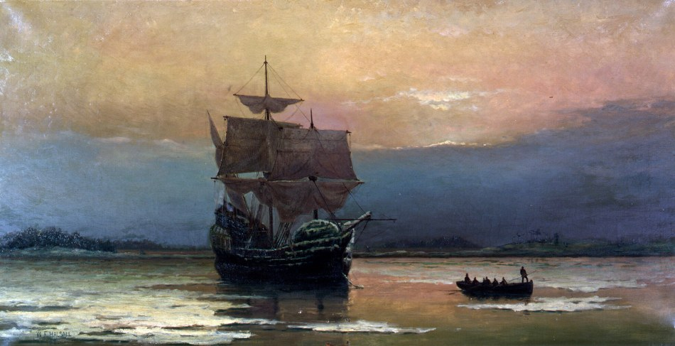 'Mayflower in Plymouth Harbor'