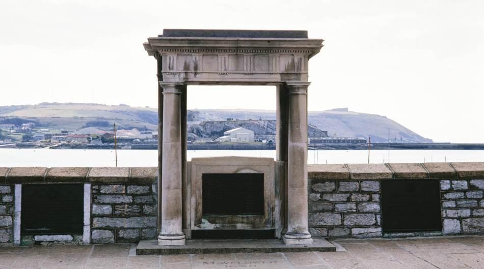 The Mayflower Memorial, Plymouth, Devon