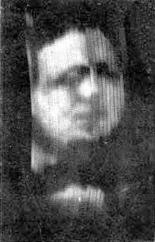 1926 broadcast image of Baird's business partner, Oliver Hutchinson. Image in the public domain.