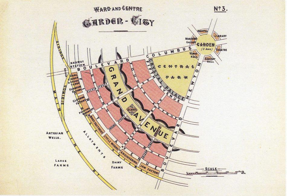 one-sixth segment of his 'Garden City.'