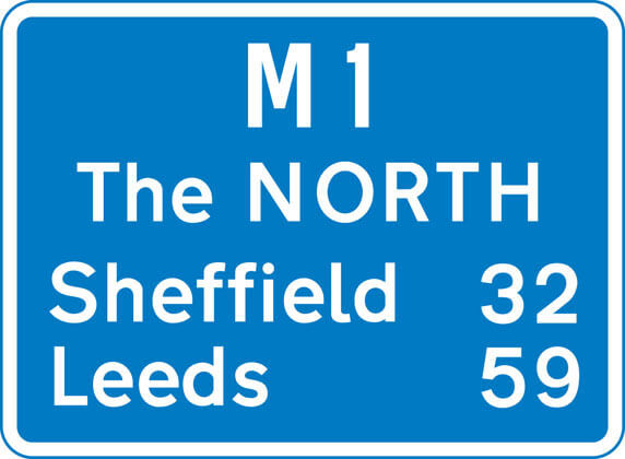 M1 blue sign