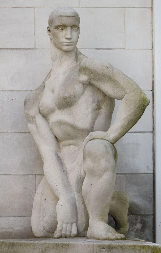 Statue of a printer