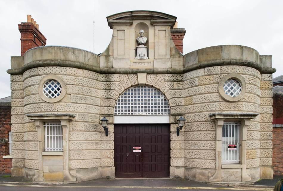 General view of HMP Shrewsbury gatehouse entrance.