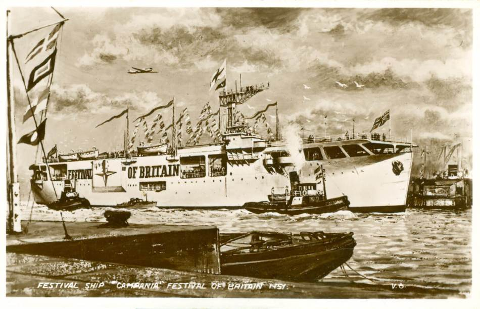 Postcard of the Festival ship