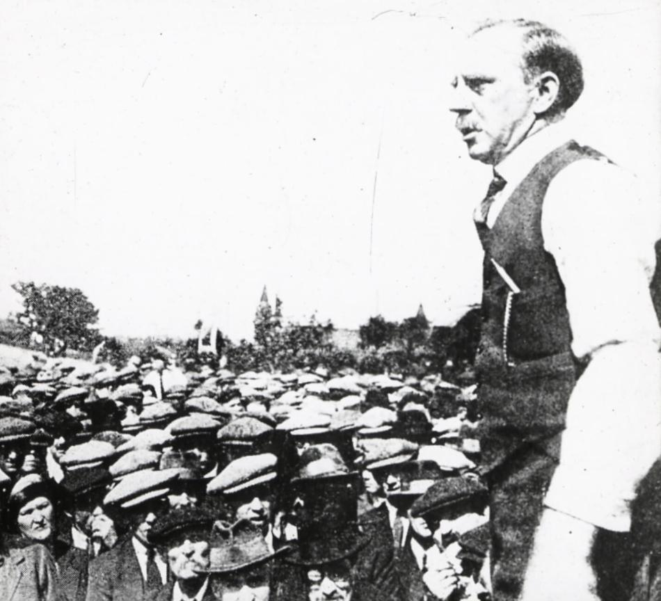 Arthur J Cook addresses a crowd