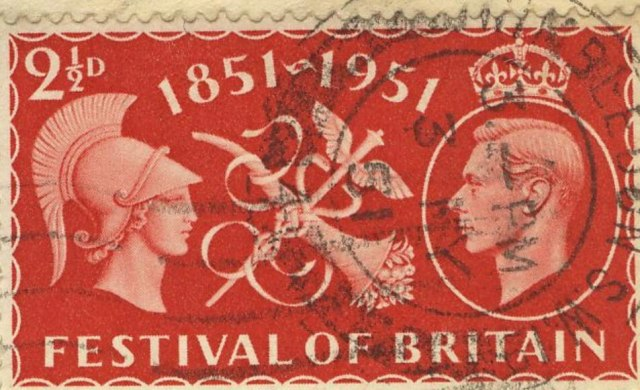 Red stamp for the Festival of Britain