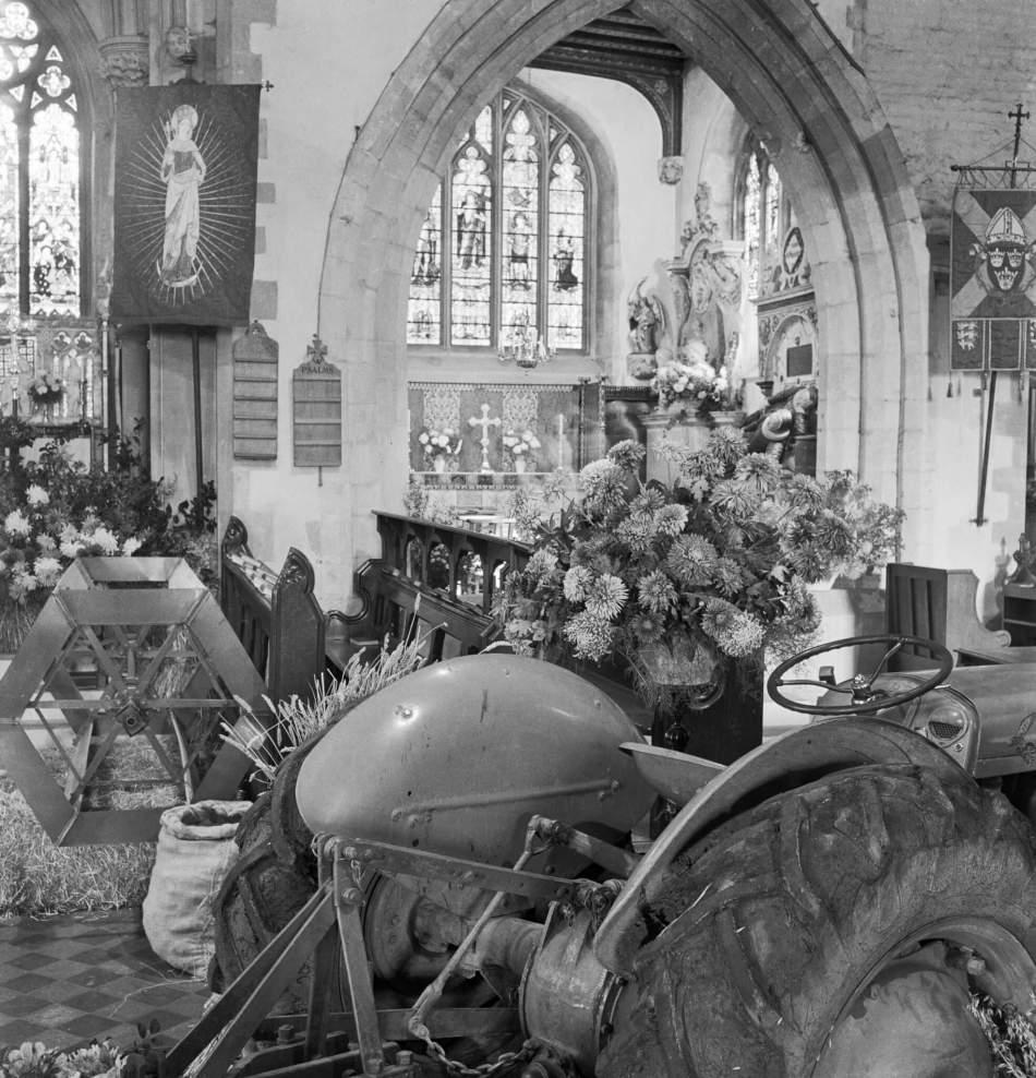 Harvest Festival display at the Church of St Etheldreda, Hatfield