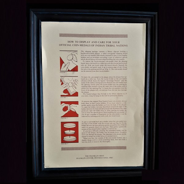 Indian Tribal Nations Cover Instruction Insertion .How To Display and Care