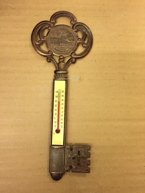 Vintage Key to the City Washington DC Souvenir Thermometer