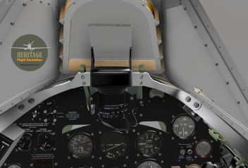 Vent box is designed to direct airflow toward the pilots' face