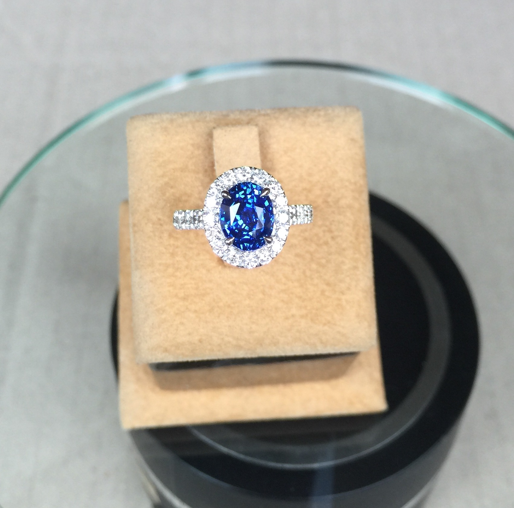 Unheated Sapphire Engagement Ring