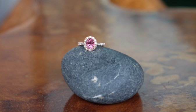Pink Spinel Proposal Ring 18K Pink Gold